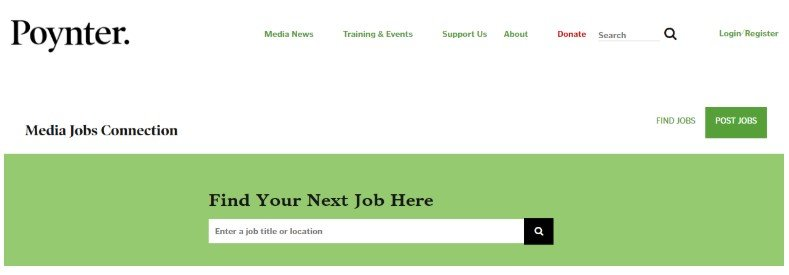 Poynter Media Jobs