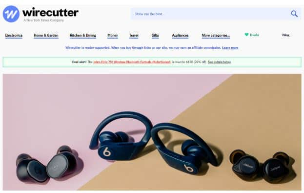 Wirecutter Top Money Generating Page