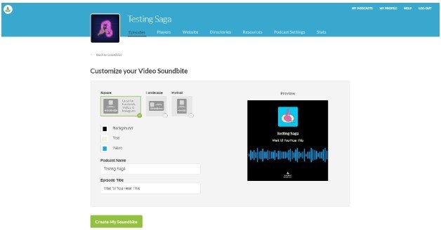 Buzzsprout Video Soundbite
