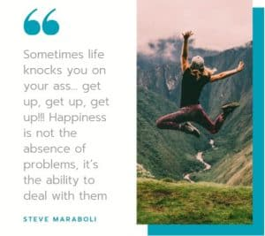 Happiness is not the absence problem inspirational motivational quote