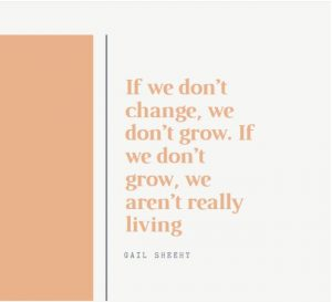 Inspirational quote about change and growth