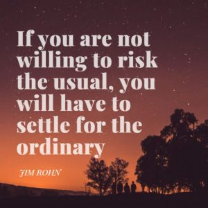 One of the Inspirational Quotes about risk