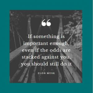 One of the Motivational Quotes if something is important enough