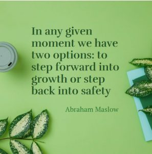 motivational quote about growth and safety