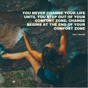 motivational quote about leaving out the comfort zone