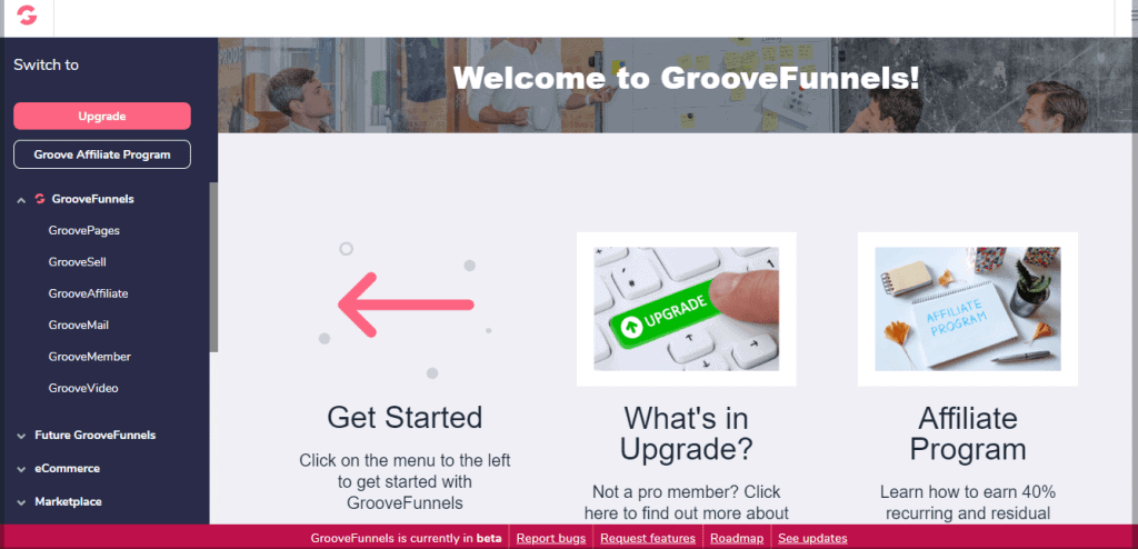 groove affiliate dashboard page image