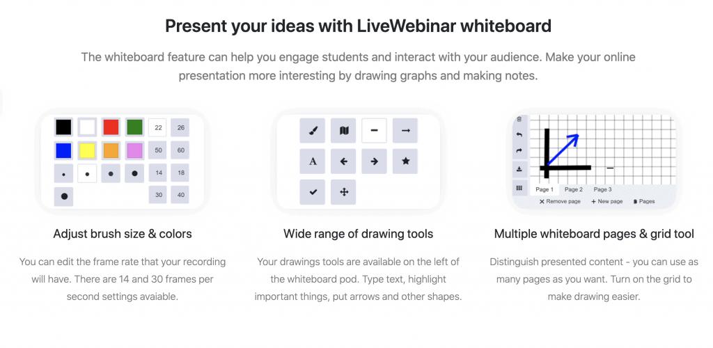 livewebinar whiteboard function image