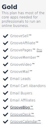 GrooveFunnels Gold Plan Image