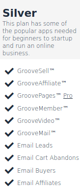 GrooveFunnels Silver Plan Image