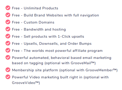 groove funnels free pricing