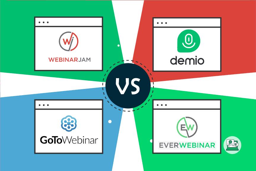 WebinarJam vs Demio vs GoToWebinar vs EverWebinar