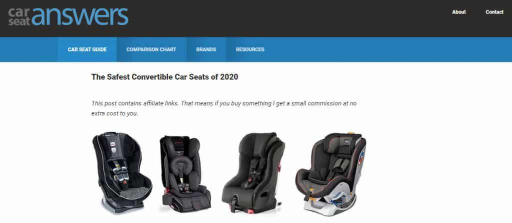 Car Seat Answers Website Page