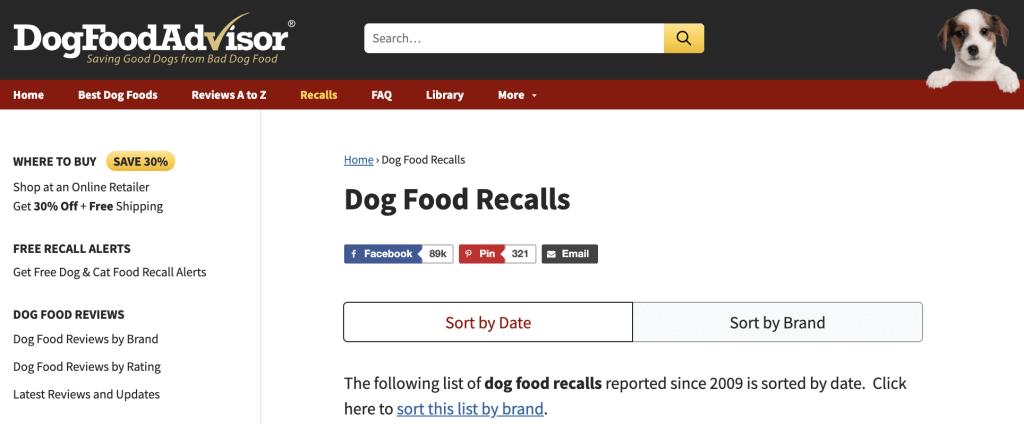 Dog Food Advisor Informational Page