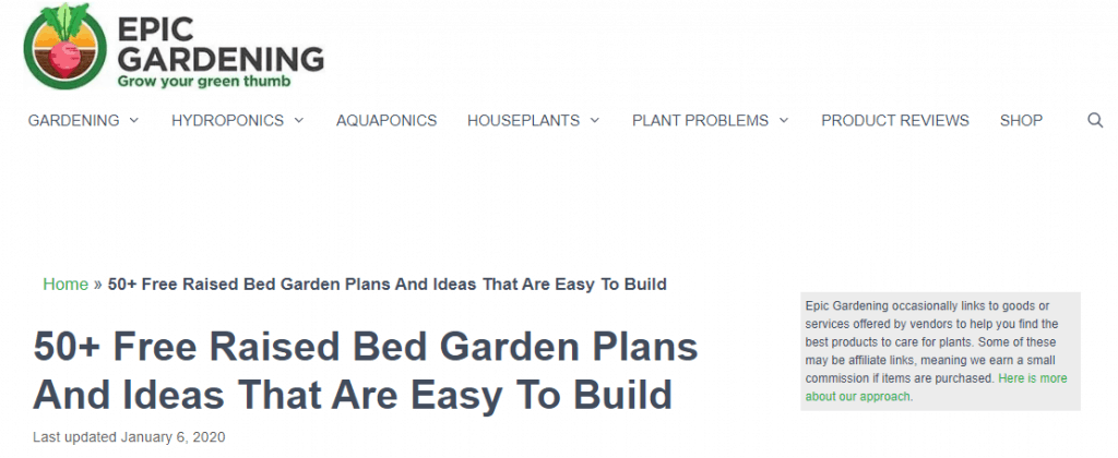 Epic Gardening Informational Page