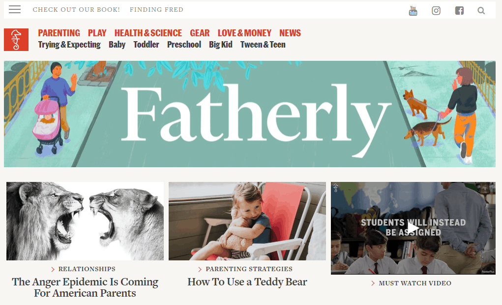 Fatherly Website