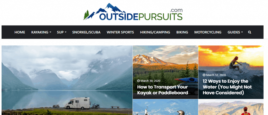 Outside Pursuits Website Page