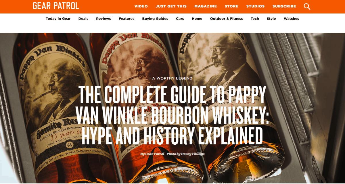 Pappy Van Winkle Website
