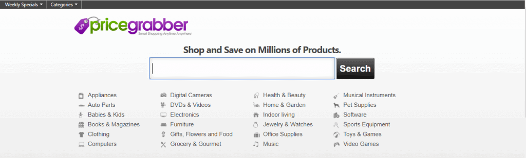 Price Grabber Website Page