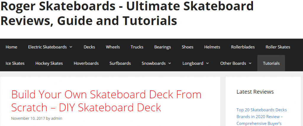 Roger Skateboards Top Informational