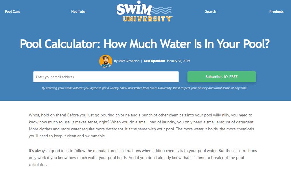 Swim University Money Generating