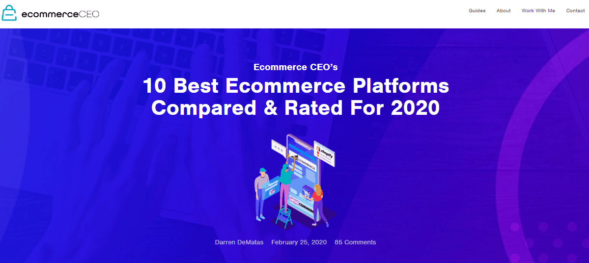 eCommerce CEO Generating Page