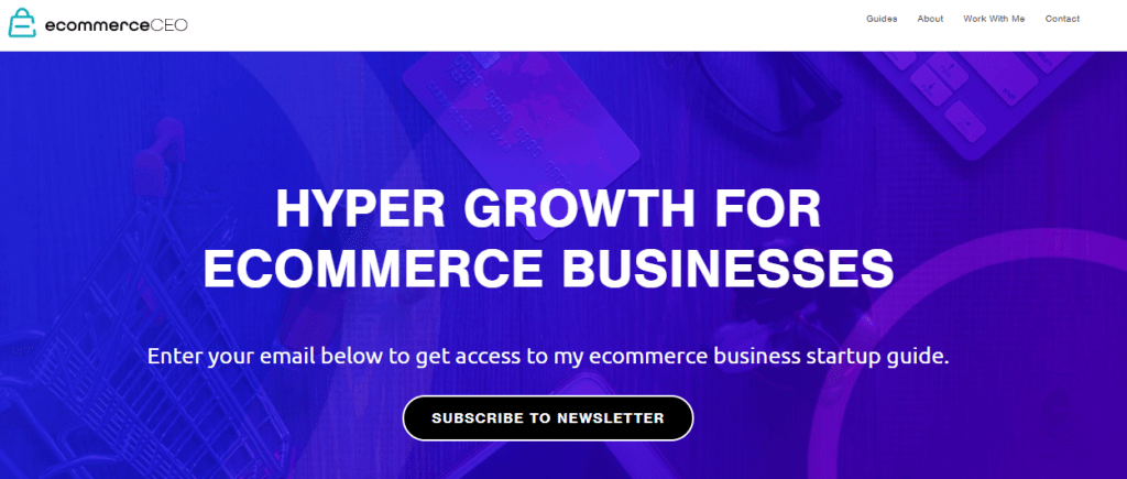 eCommerce CEO Website Page