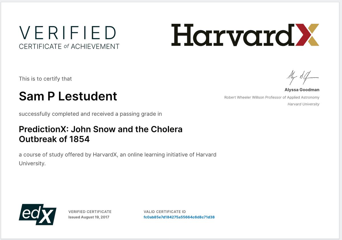edEx certificate