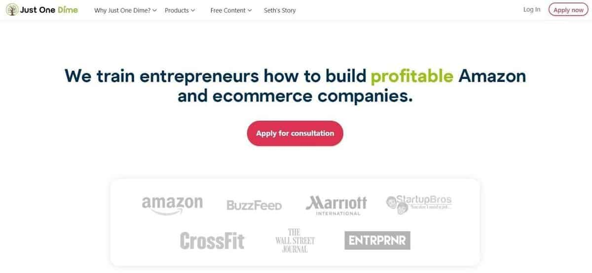 Just One More Dime Landing page
