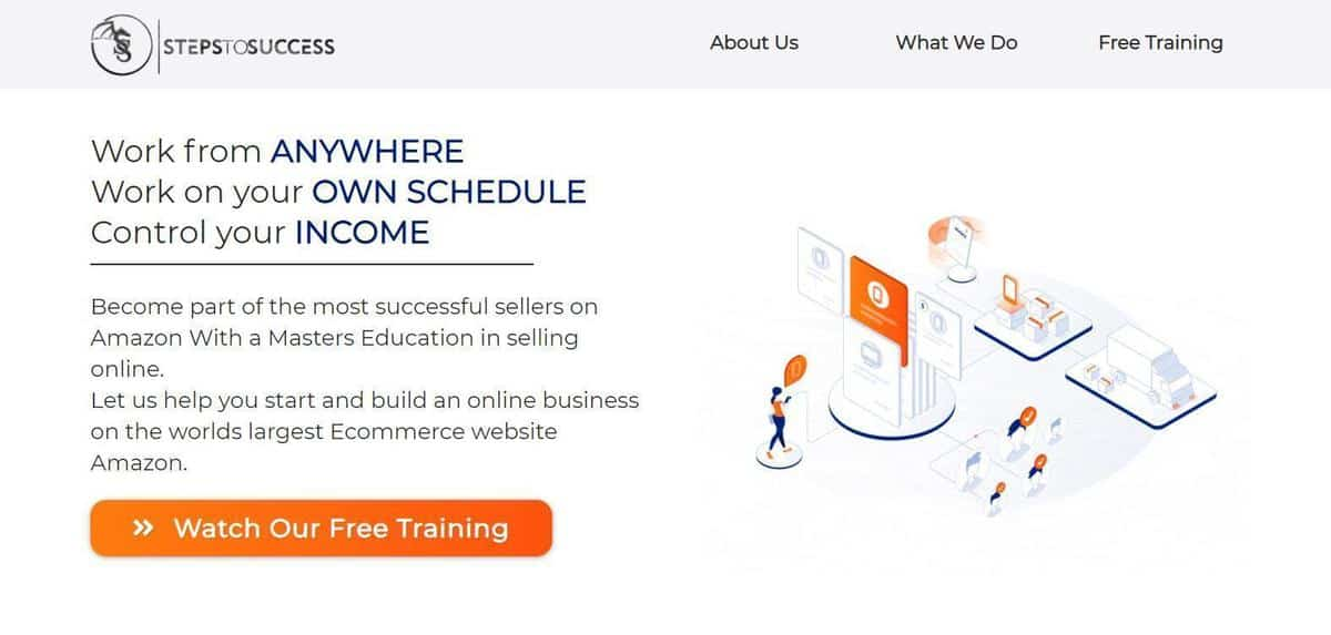 Steps to Success Landing Page
