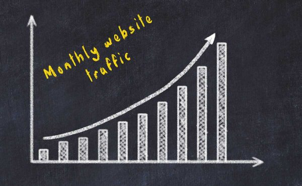 monthly website traffic increase image